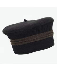 Beret - Black with Brown