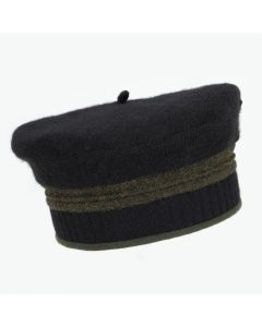 Beret - Black with Green