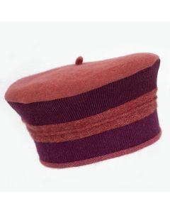 Beret - Red with Burgundy