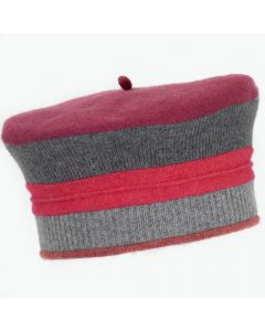 Beret - Pink with Pattern