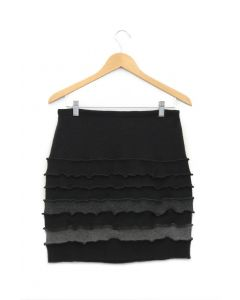 Banded Skirt - Black with Grey