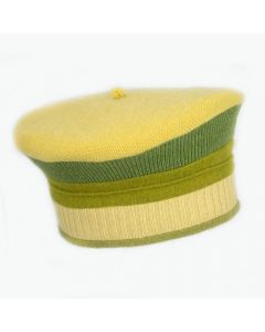 Beret - Yellow with Green