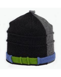 Saturn - Black, Grey Split with Green