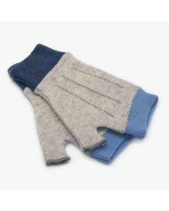 Cuffs - Grey with Blue