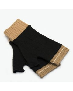 Cuffs - Black with Tan
