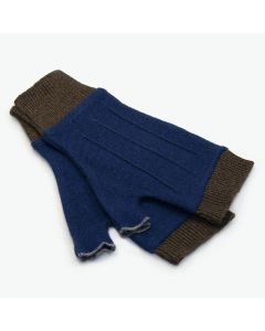 Cuffs - Blue with Brown
