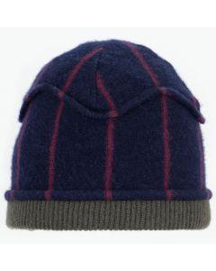 Gazebo Hat GZ9079 Navy Blue & Burgundy Stripe w/ Sage Green