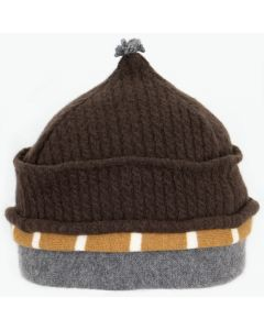 Onion Hat ON9435 Brown Cable w/ Burgundy