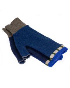 Fingerless Mittens - Blue