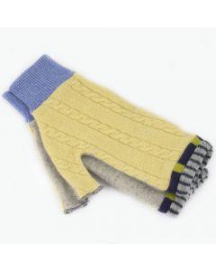 Fingerless Mitten MM8103 Yellow Cable