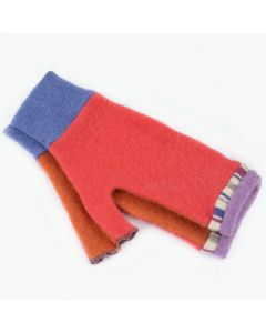 Fingerless Mitten MM8236 Melon Pink w/ Orange