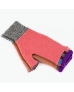 Fingerless Mitten - Medium MM9319 Orange-Pink w/ Purple