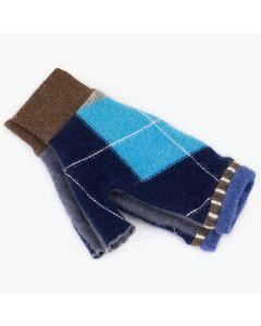 Fingerless Mittens - Pattern Blue