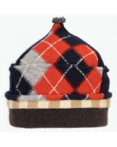 Onion Hat ON8260 Navy Blue & Red Argyle w/ Grey