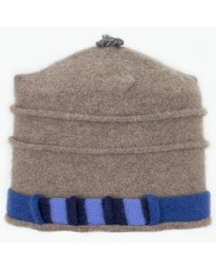 Saturn Hat S9103 Mocha w/ Blue & Navy Stripe