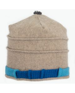 Saturn Hat S9125 Light Mocha w/ Aqua Blue