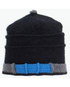Saturn Hat S9140 Black w/ Charcoal Grey & Blue