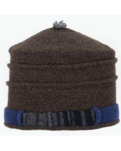 Saturn Hat S9229 Brown & Blue w/ Black & Charcoal Stripe