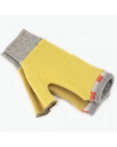 Fingerless Mitten - Small MS9462 Yellow w/ Grey & Orange