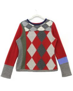 Trixie - Pattern Red, Grey