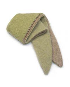 Twist Scarf - Green, Tan